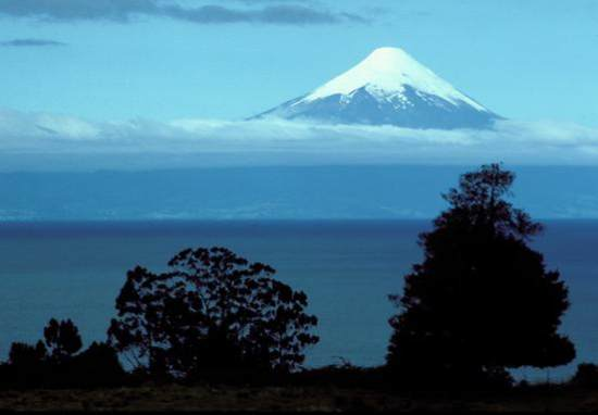 Mt Osorno and lake, Chile